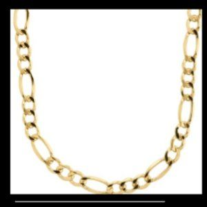 14k SOLID GOLD FIGARO 24 INCH MENS NECKLACE